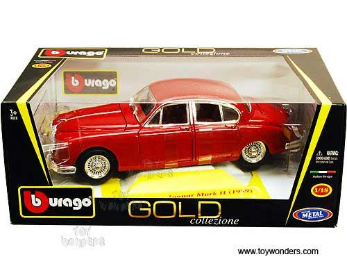 bburago gold jaguar mark ii hard top 1959 1 18 scale. Black Bedroom Furniture Sets. Home Design Ideas