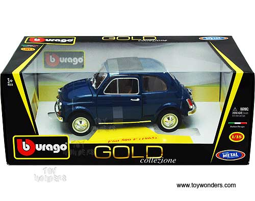 Bburago gold fiat 500 f hard top 1965 1 18 scale for Garage fiat 94
