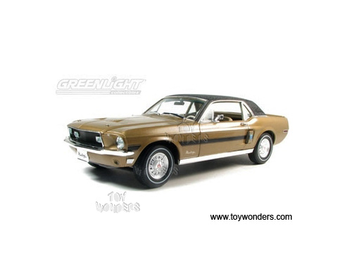 Greenlight Muscle Car Garage   Ford Mustang GT Hard Top (1968, 1/18