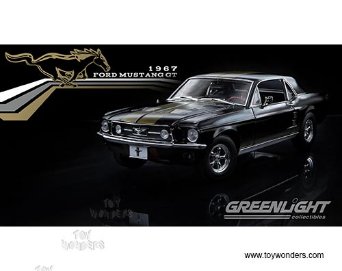 greenlight ford mustang gt hard top 1967 118 scale diecast model