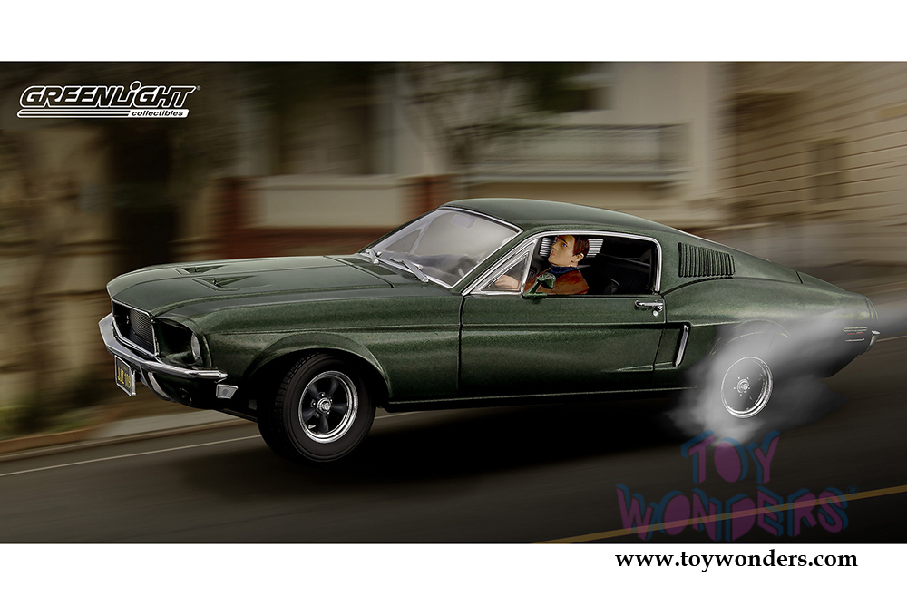 1968 Ford Mustang Gt With Steve Mcqueen Figure Hard Top