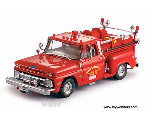 18 Toy Trucks : Sun star usa chevy c fire truck scale