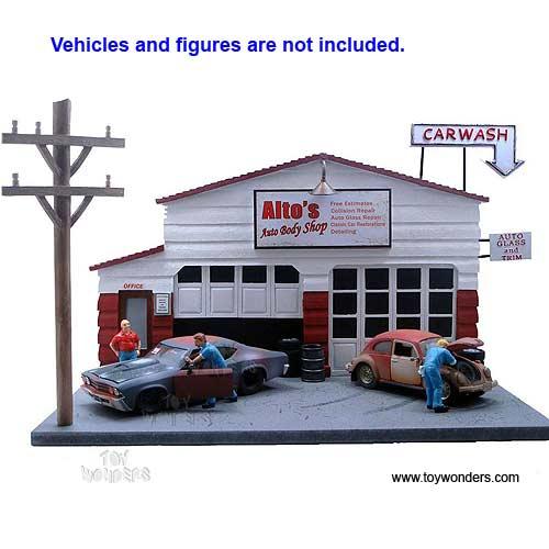 American Diorama Buildings Auto Body Shop 124