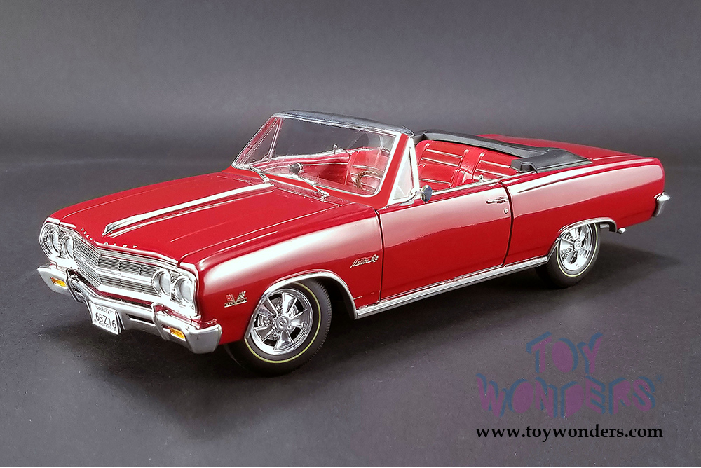 Acme - Chevrolet® Chevelle® Z16 (Malibu SS 396) Convertible (1965, 1/18  scale diecast model car, Red) 1805306
