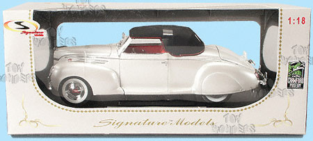 1939 Lincoln Zephyr By Signature Models 1 18 Scale Diecast Model Car