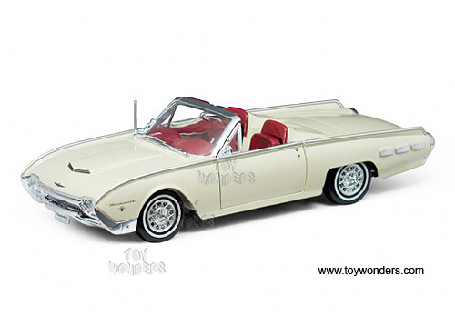 Welly   Ford Thunderbird Sports Roadsters Convertible (1962, 1/18 Scale  Diecast Model Car, Cream)19868