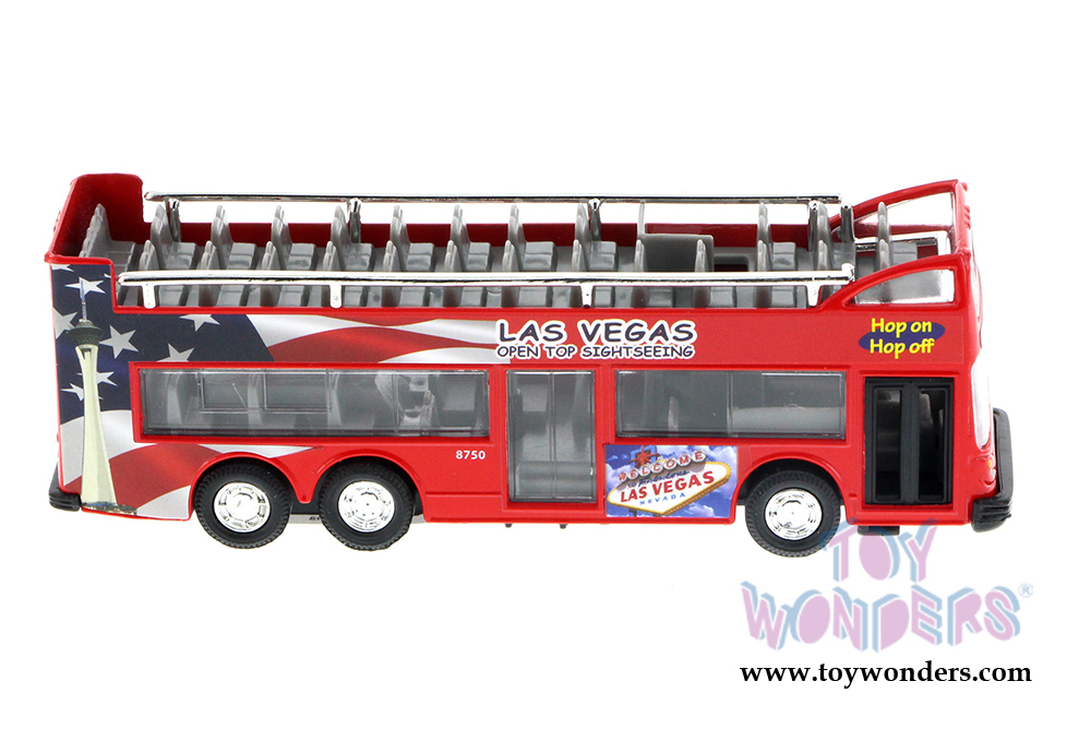 Las Vegas Sightseeing Double Decker Bus Open Top 6 Red 2168dlv