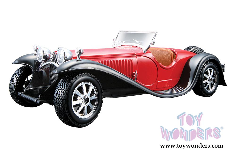 bburago bugatti type 55 convertible 1932 1 24 scale diecast model car red 22027r. Black Bedroom Furniture Sets. Home Design Ideas