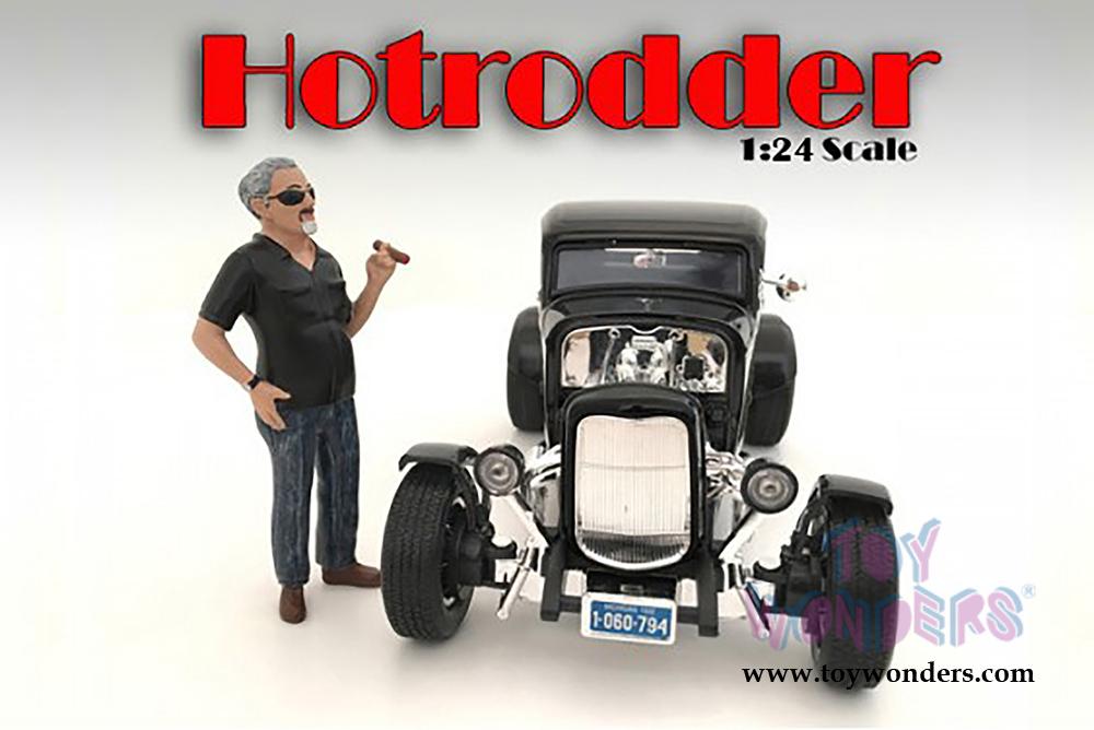 American Diorama Figurine - Hotrodders - Bill (1/24 scale, Black ...