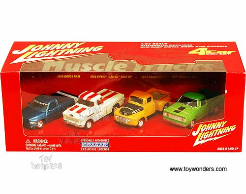 Muscle Truck Car Set By Johnny Lightning Scale Diecast