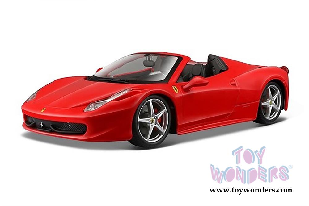 Charmant BBurago Ferrari Race U0026 Play   Ferrari 458 Spider Convertible (1/24 Scale  Diecast