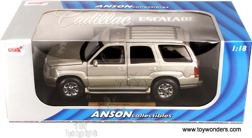 2002 cadillac Escalade by Anson 1/18 scale cast model car ...