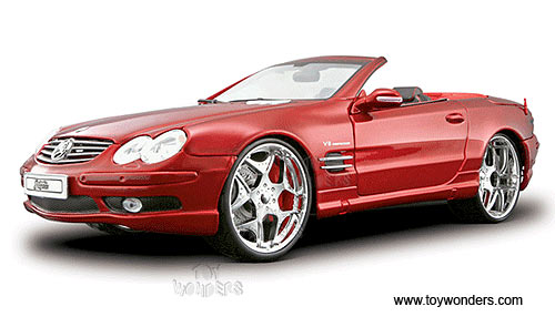 Mercedes benz sl55 amg convertible by maisto playerz 1 18 for Mercedes benz red convertible
