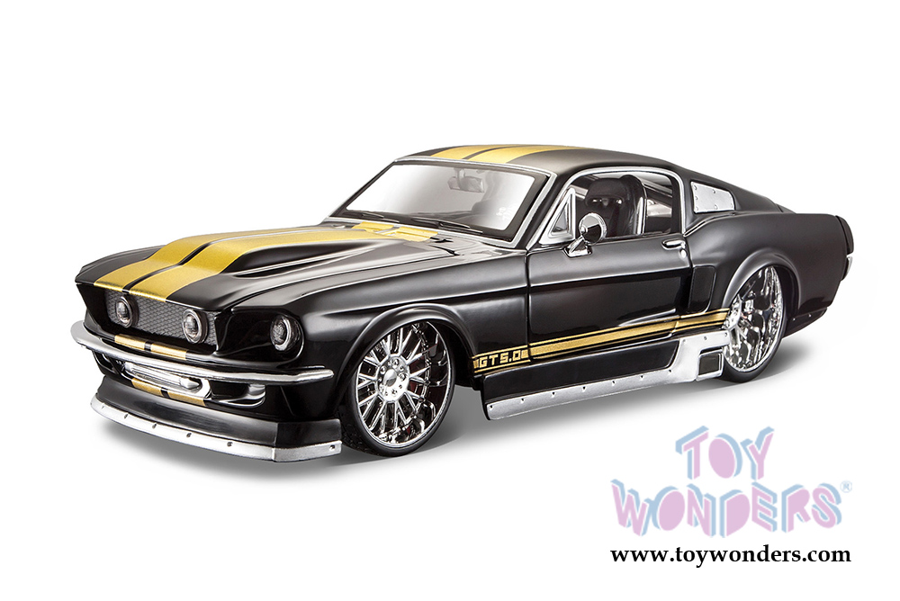 1967 Ford Mustang Gt Hard Top 31094bk 1 24 Scale Scale Maisto Design