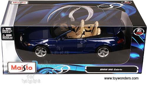 Maisto   BMW M6 Cabrio Convertible (1/18 Scale Diecast Model Car, Blue