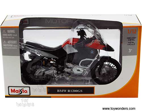 bmw r1200gs motorcycle by maisto 1 12 scale diecast model. Black Bedroom Furniture Sets. Home Design Ideas