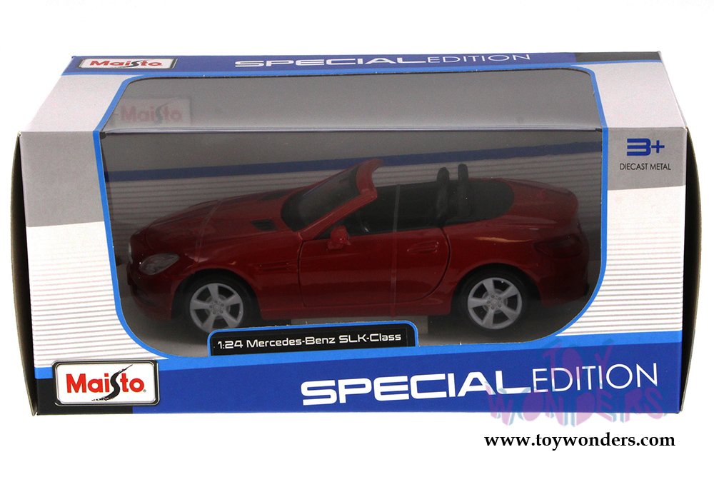 2011 mercedes benz slk convertible 31206r 1 24 scale for Mercedes benz scale model cars