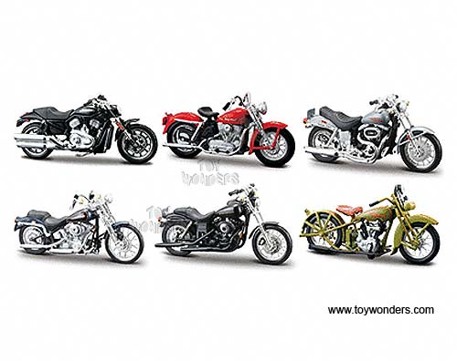 Harley Davidson Motorcycles Toy Diecast Cars Series 24 By Maisto 1