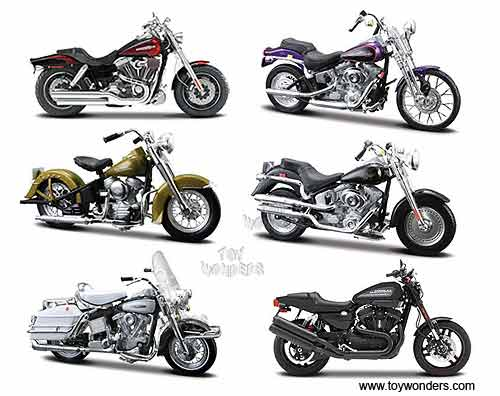 Harley Davidson Toys : Harley davidson motorcycles diecast series