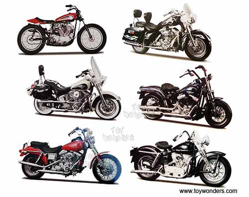 Harley Davidson Motorcycles cast Series 30 31360/30 1/18 scale ...