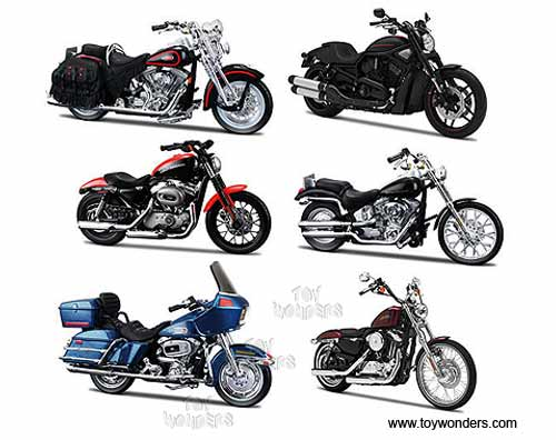 Harley-Davidson Motorcycles cast Series 31 31360/31 1/18 scale ...