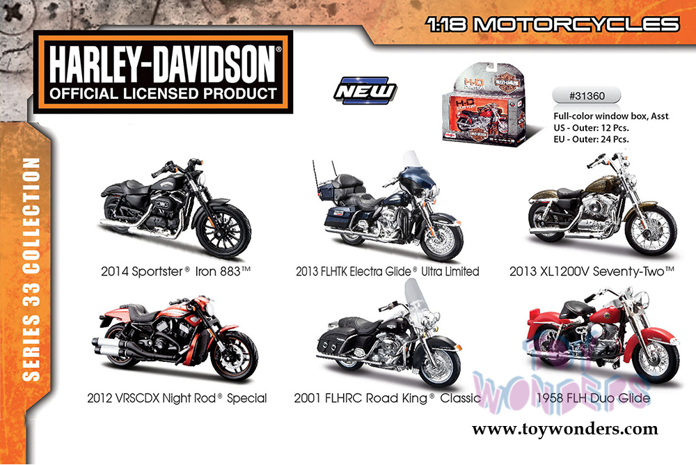 Harley-Davidson Motorcycles cast Series 33 31360/33 1/18 scale ...