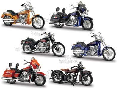 harley davidson motorcycles toy diecast cars series 18maisto 1