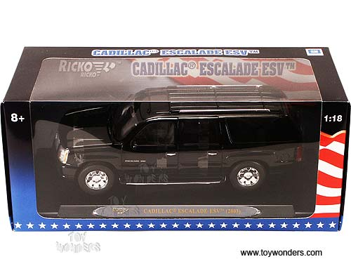 2003 cadillac Escalade ESV by Ricko 1/18 scale cast model car ...