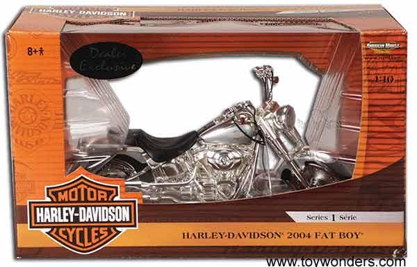 harley davidson fat boy  ertl  scale diecast model