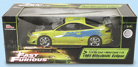 1995 the Fast & the furious mitsubishi Eclipse by ERTL 1/18 scale diecast model car wholesale ...