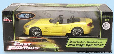 2003 2 Fast Furious Dodge Viper SRT 10 By ERTL 1 18 Scale Diecast Model Car Wholesale 33470