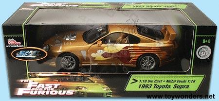 1993 2 Fast Furious Supra By ERTL 1 18 Scale Diecast Model Car Wholesale 33541