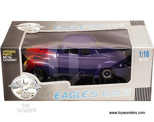 Eagles Race - Ford Coupe Hot Rod (1940, 1:18, Purple w/ Flames) 3812