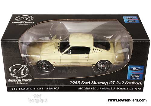 RC2 ERTL Authentics - Ford Mustang GT 2+2 Fastback Hard Top (1965, 1:18, Yellow) 39312