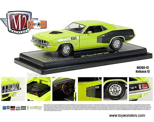 1//64th M2 Machines Detroit Muscle R27 1971 Plymouth Cuda 440-6