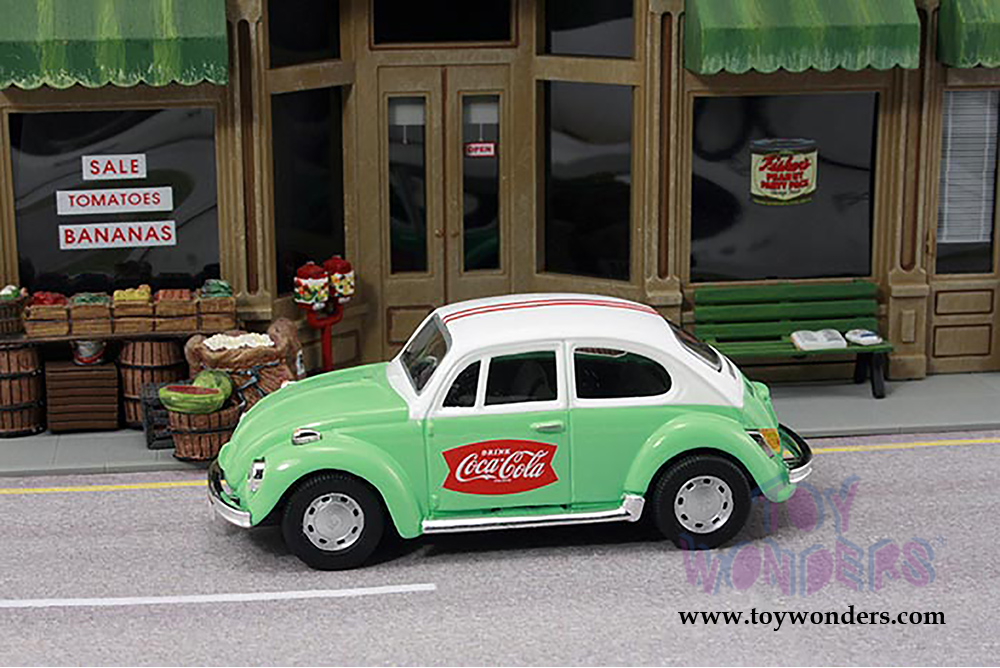 Vw beetle hard top 440031 1 43 scale motor city coca cola for Motor city auto sales