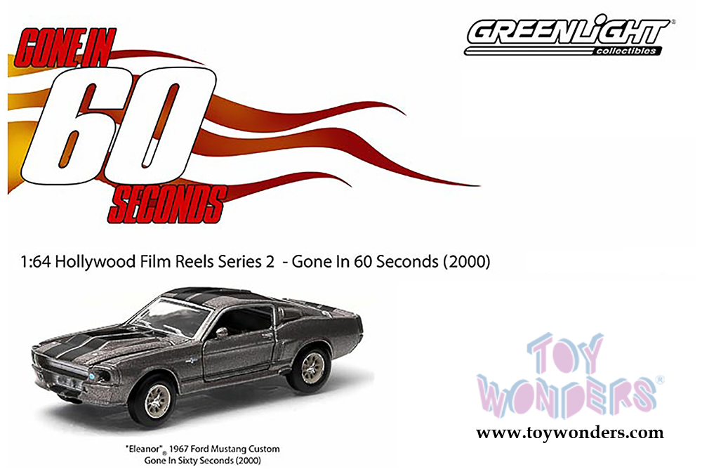 1967 Ford Mustang Eleanor Gone In Seconds Shelby GT 500 1:64 GreenLight 44742
