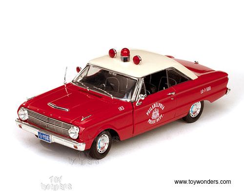Sun Star USA - Ford Falcon Philadelphia Police Hard Top (1963, 1/18 scale  diecast model car, Red) 4553R