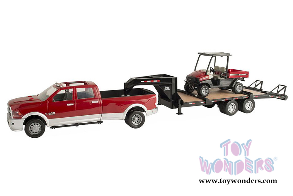 Case Ih Ram 3500 Pickup Truck In Red With Gooseneck