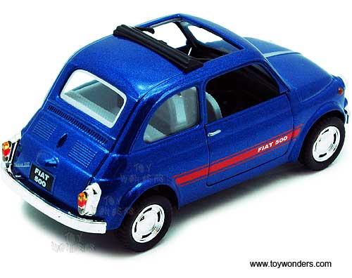 Fiat 500 Hard Top W Open Closed Sunroofs 5004d 1 24 Scale Kinsmart