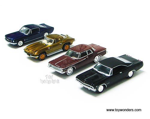 Muscle Car Gold Toy Diecast Cars Series By Johnny Lightning Jl