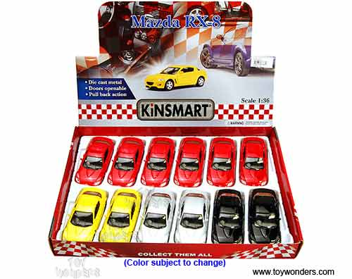 Toy Diecast Mazda Rx 8 Hard Top 5071d 1 36 Scale Kinsmart