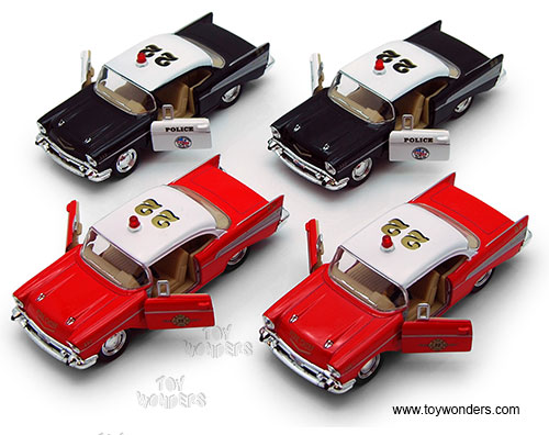 1957 Chevrolet Bel Air Police Fire Chief By Kinsmart 140 Scale