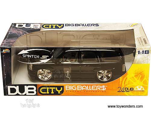 2002 cadillac Escalade SUV by Jada Toys Dub City 1/18 scale diecast ...