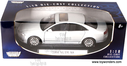 Etonnant Motormax   Audi A8 Hard Top (2004, 1/18 Scale Diecast Model Car, Silver)  73149