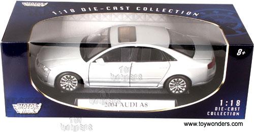 Motormax   Audi A8 Hard Top (2004, 1/18 Scale Diecast Model Car, Silver)  73149
