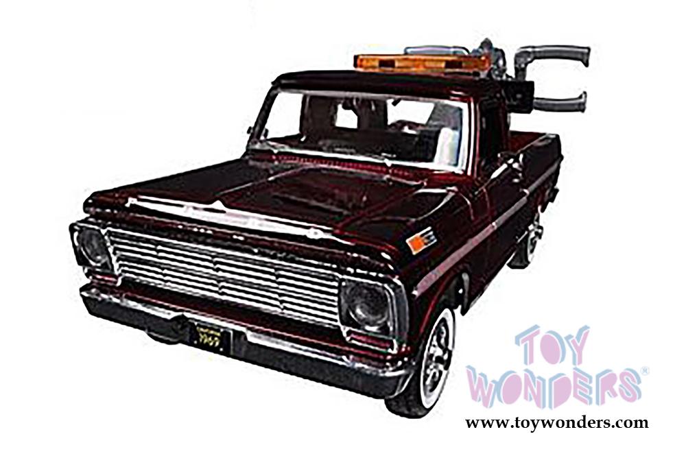 1969 Ford F 100 Pickup Tow Truck 75345ac 124 Scale Motormax Premium