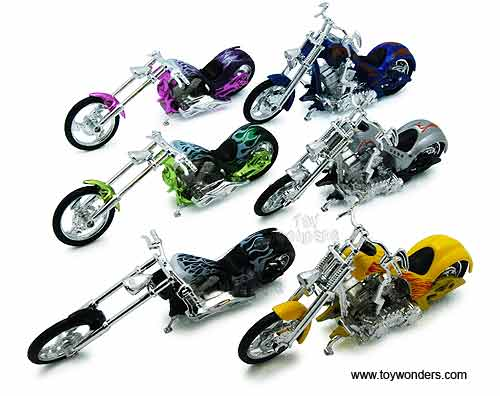 Toy Diecast Iron Choppers Motorcycle 76256 1 18 Scale