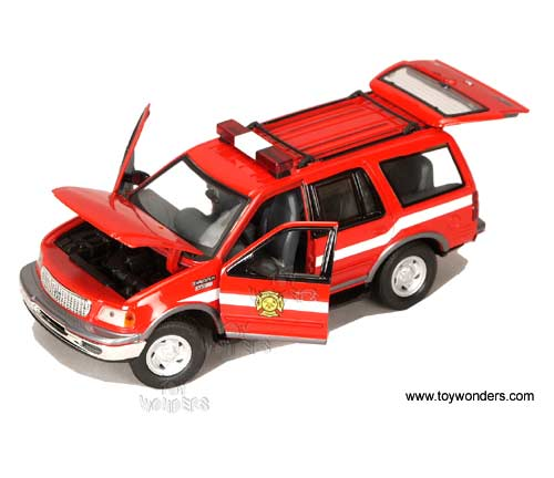 Motormax - Ford Expedition XLT Fire Chief (2000 1/24 scale diecast model  sc 1 st  Toy Wonders & 2000 ford Expedition XLT Fire Chief by Motormax 1/24 scale diecast ... markmcfarlin.com