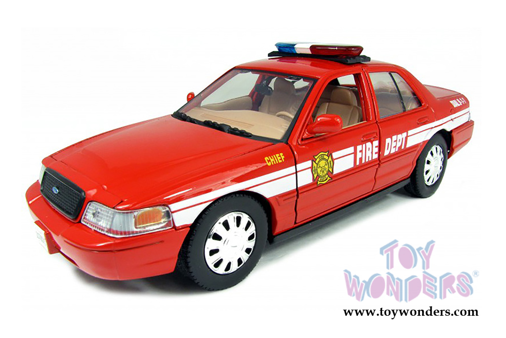 2007 ford crown victoria fire chief by motormax 1 24 scale for Crown motors ford redding